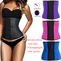 Aj2216 Latex corset steel bone women bodies straitjacket harness shapewear waist trainer slimming latex corsets and bustiers