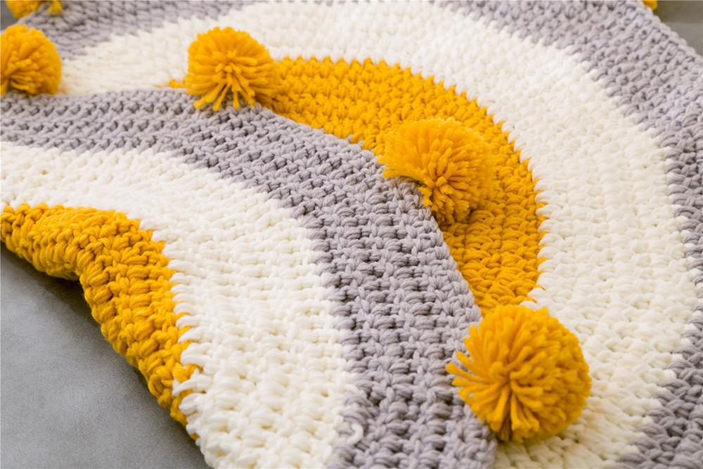 INS Children Premises Mat Hand-woven Mats Baby Play Mats Knitted Blanket Handmade Ball Children Premises Mat Crawling Mat (13)