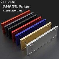 GH60 kompaktowa klawiatura mechaniczna anodowanego alluminum przypadku DIY poker2 złoty case FACEU gaming keyboard klawiatura metalowa obudowa ramki