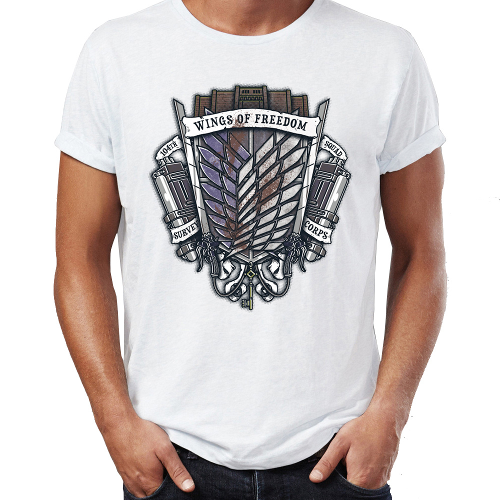 ecf56ed82def Buy attack on titan survey corps t shirt and get free shipping on  AliExpress.com