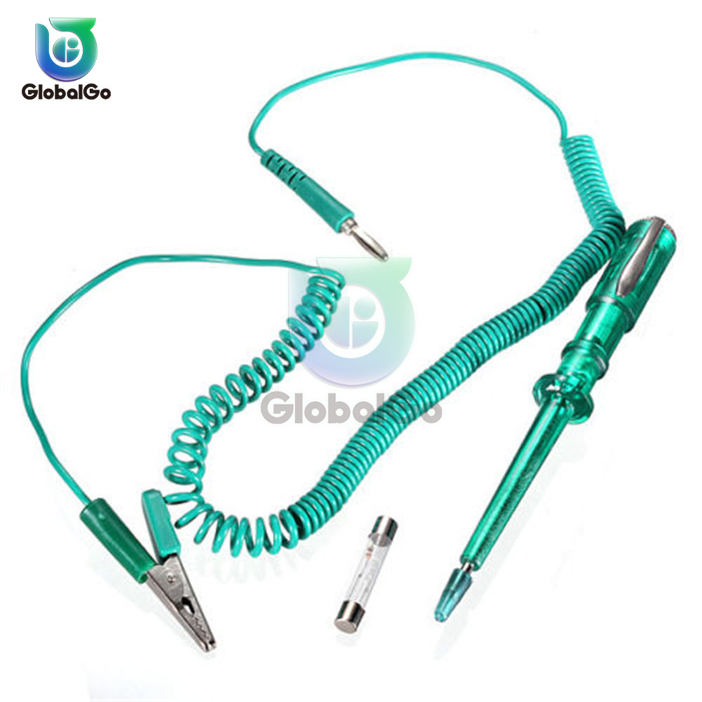 DC 6V12V 24V Auto Car Electrical Circuit Voltage Tester Test Pen with Alligator Clip Wire Truck Motorcycle Car Fuse Detector
