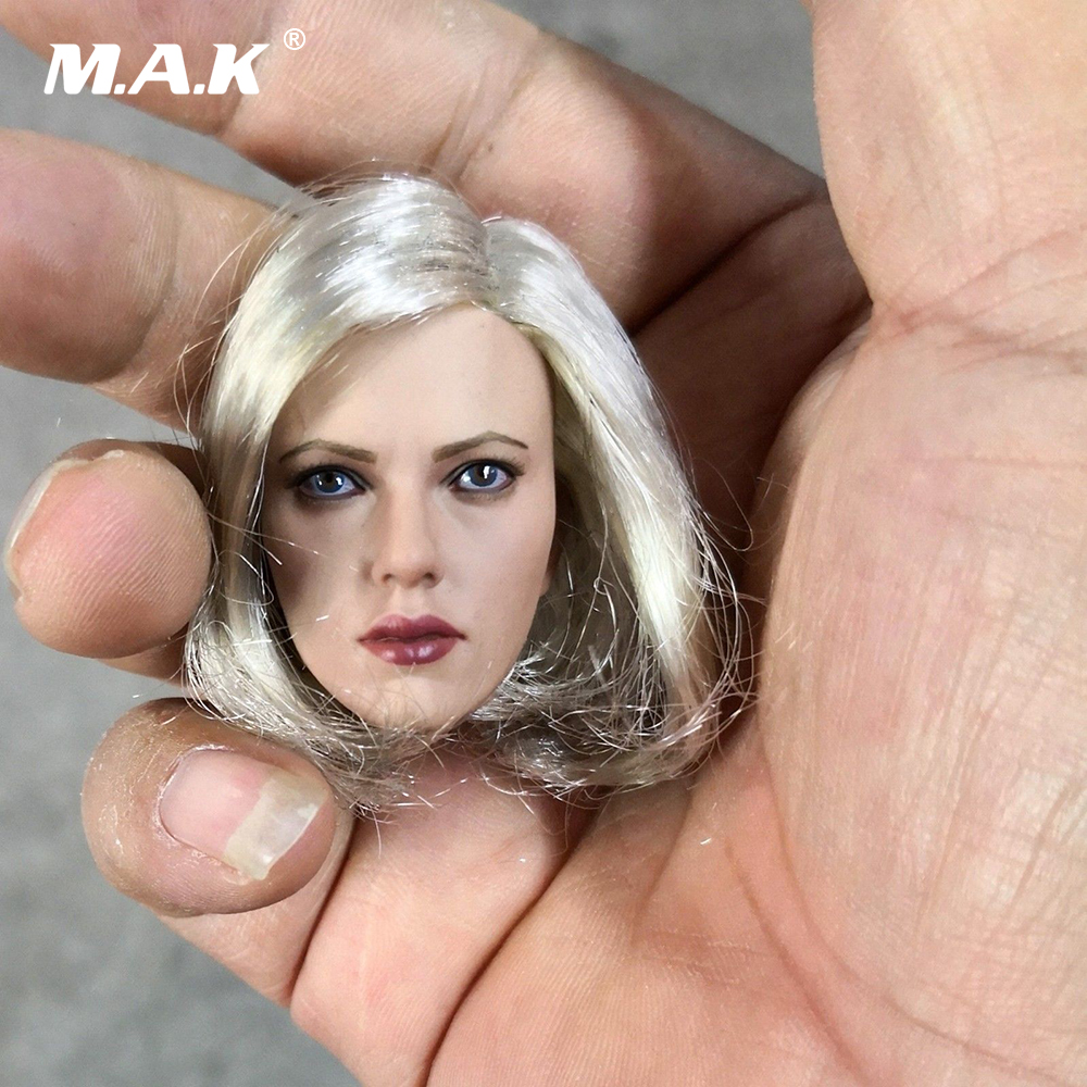 Black Widow Scarlett Head Scuplt 1 6 Scale Woman Head Carving Model Toys for 12 inches