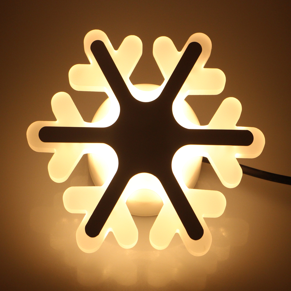 ≧Snowflake Modern 180-265V 15W Wall Lamp For Bedroom Balcony Kids ...