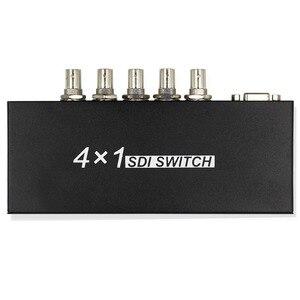 SDI Switch 4x1 4 Channels SDI Signal to 1 SDI Signal Channel Support Full-HD SDI Signal (4 Inputs and 1 Output)- Black(China)