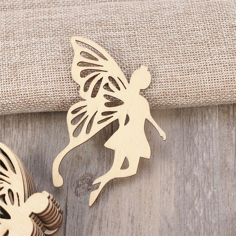 10 шт. деревянные крылья АНГЕЛОВ феи, украшение, бирка с веревкой, вешалка, аксессуары ручной работы, украшение для дома A3