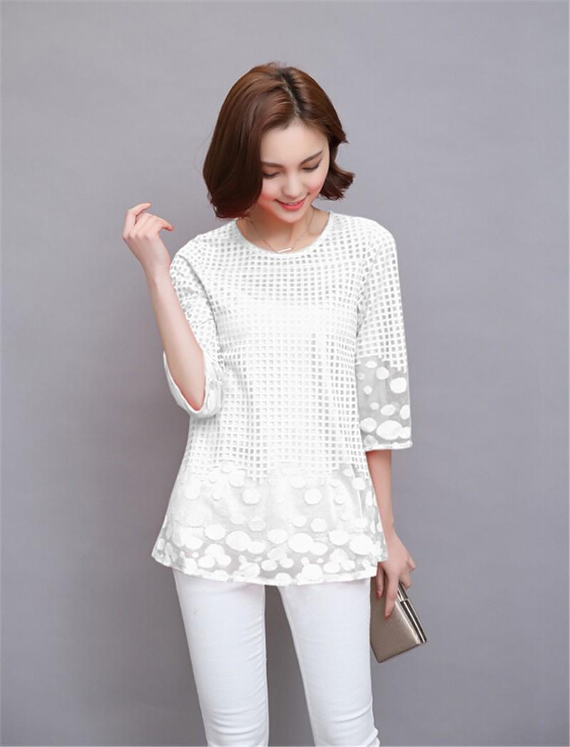 Plus Size 4XL 5XL 6XL  Luxury Lace O Neck  Women Blouse Shirt Noble Long Mesh sleeve Shirt Blouse Vintage tops Blusas Femininas (13)