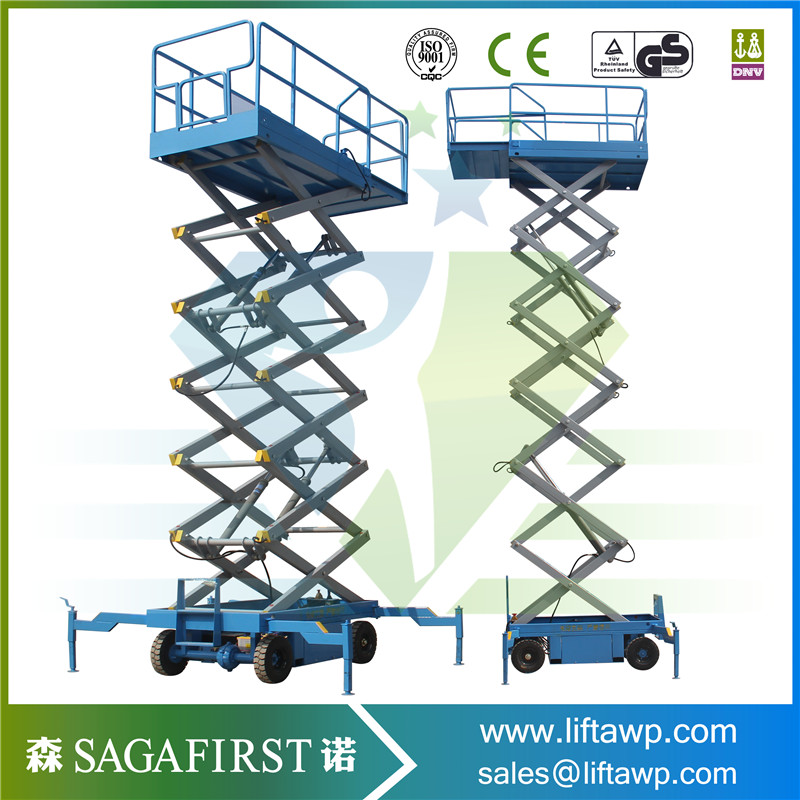 China 10m Scissor Lift With Blue Color