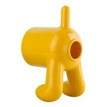 Neue 1 stück Kreative Niedlichen Hund Form Wc Rollenpapier Box PP Kunststoff Tissue Boxen Magie Aufkleber Hängen Hause Serviettenhalter Container