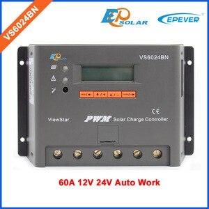 Controlador de 60a EPEVER, sistema de paneles solares, regulador de cargador de batería, pantalla LCD, Envío Gratis, 12V/24V VS6024BN PWM series