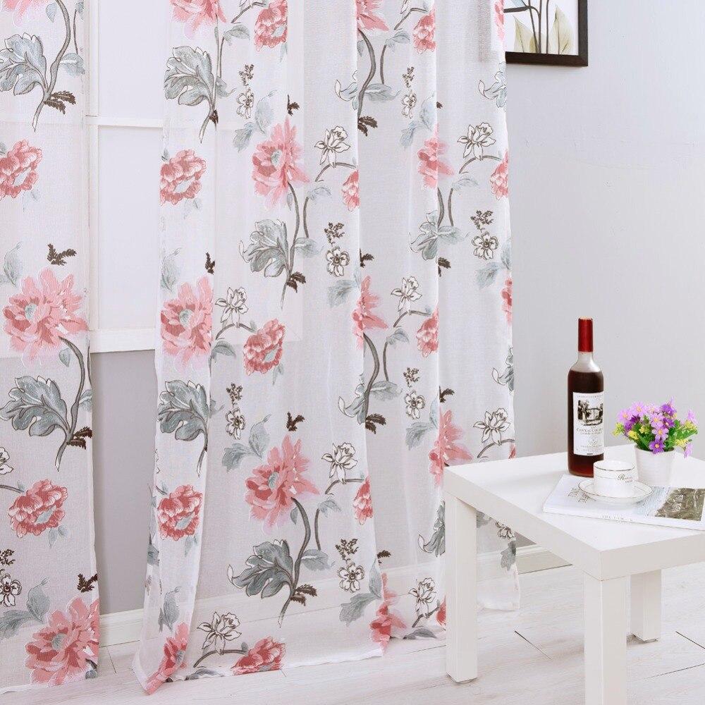 Modern Window Curtain With Flower Design: Free Shipping Fabrics Drape Floral Design Fabrics Modern