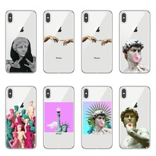 Alternative statue art Pattern TPU Soft Phone Cell Phone Case for iPhone 8 7 6 6S plus X Xs Xr XsMax 5 5s SE Cartoon David Cover vaux david cell death isbn 9780470686577