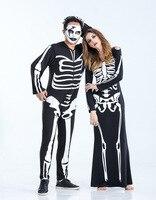 Real Shot Devil Costume Couple Halloween Party Demon Skull Vampire Costumes Female Ghost Cosplay Dress