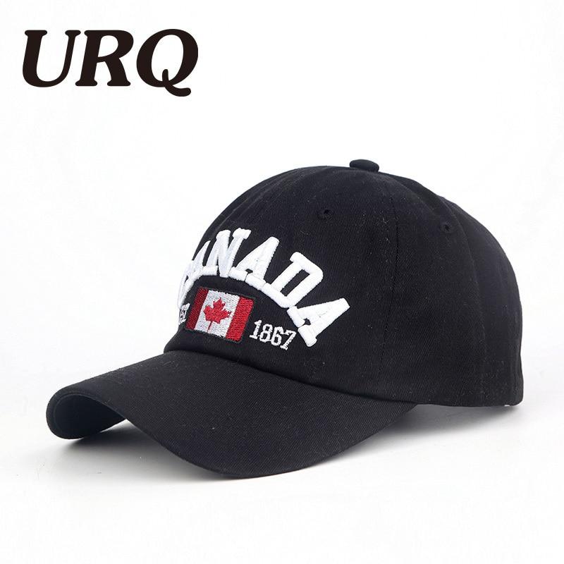 URQ brand canada letter embroidery Baseball Caps Snapback hat for Men women Leisure Hat cap 4052