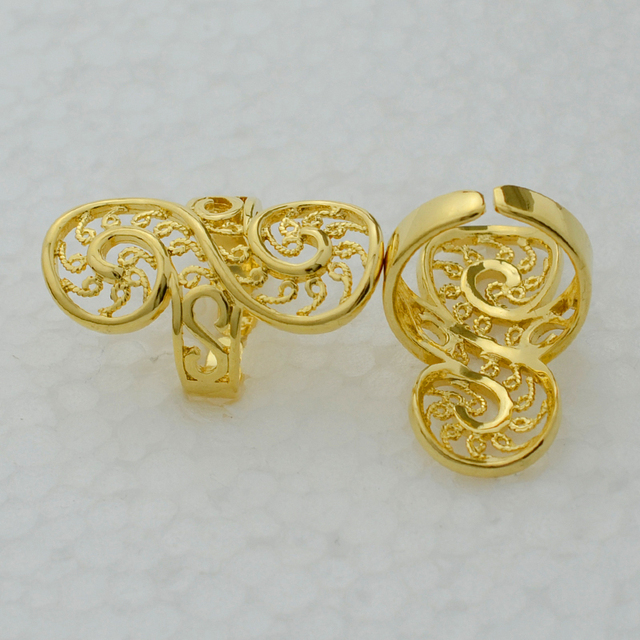 Gold Ring Women 18k Gold Plated jewelry Trendy Exquisite Design