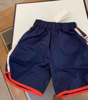 2019 New Summer Sport Short for Baby Boy Kids Blue Shorts School Style Letter Pattern Active Clothing