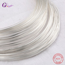 One meter 0.4-0.8mm 925 Sterling Silver wire metel thread silver string silver line for Necklace Bracelet Earring making(China)