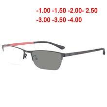 2018 novos óculos de Miopia Óculos de sol de transição photochromic Óculos  Óculos Homens Computador Miopia 4c70700343
