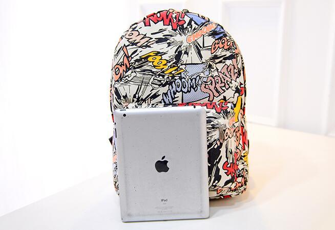 2018 Factory Price School Bags For Teenagers School Backpack Korean Women Mens Fashion Graffiti Backpack Graffiti Shoulder Bag