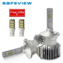 SAFEVIEW D2S D2R LED Car D1S D3S D4S D4R Headlights Bulb h7 h4 h8 h9 h11 4000LM 36W 6000K 12V MINI Size Car/motorcycle head lamp