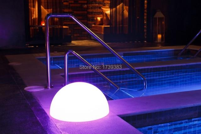 4pcs/lot Half Sphere Light LED Multi Waterproof LED Glowing Semicircle Bar/pool  Table