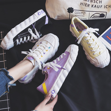 Canvas Shoes Woman 2019 Spring New Fashion Patchwork Women