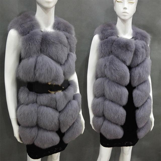 buy plus size women faux fox fur vest fur gilet vintage fake rabbit hair fur. Black Bedroom Furniture Sets. Home Design Ideas