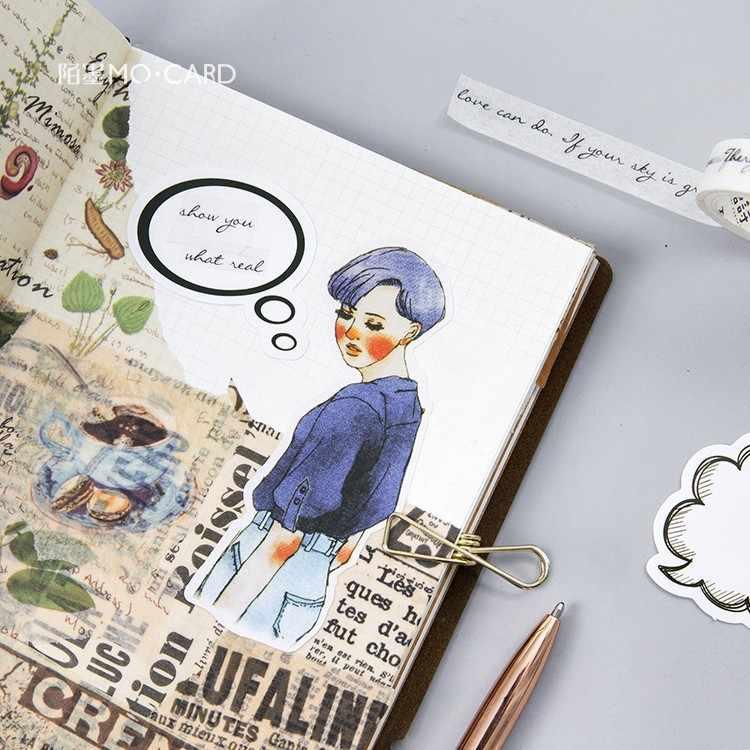 40 יח'\סט בועה ריק מכתבים מדבקות תזכיר Pad חבילה פורסם זה Kawaii מתכנן כתיבה רעיונות Escolar Supplie בית הספר