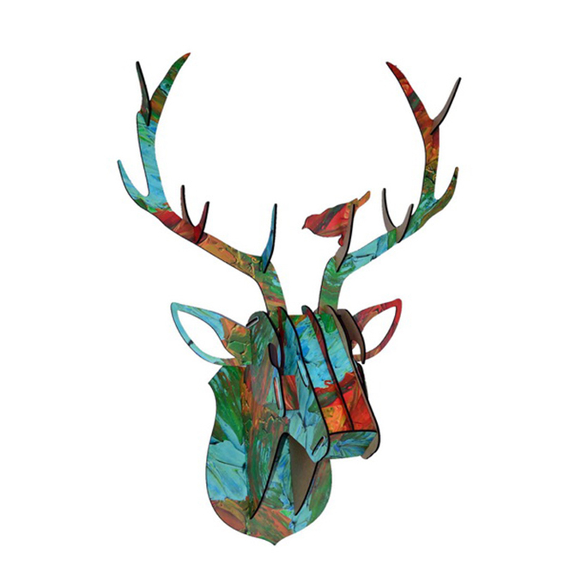 Limit Animal Christmas Reindeer Head Wooden Wall Hanging For Living - Hiasan rumah - Foto 6