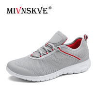 MIVNSKVE Plus Size 36 47 Men Women Summer Running Shoes Light Weight Sports Shoes Breathable Mesh