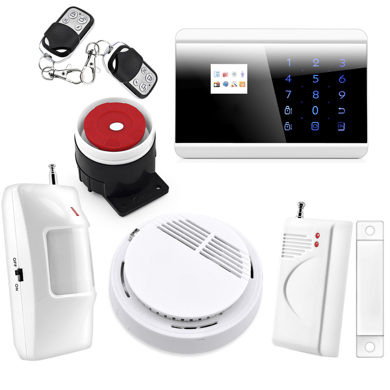 P731 Wireless Zone GSM PSTN Home Alarm System SMS Arm/Disarm Door Contct Fire Alarm Sensors Emergency Panci Alert 8218G