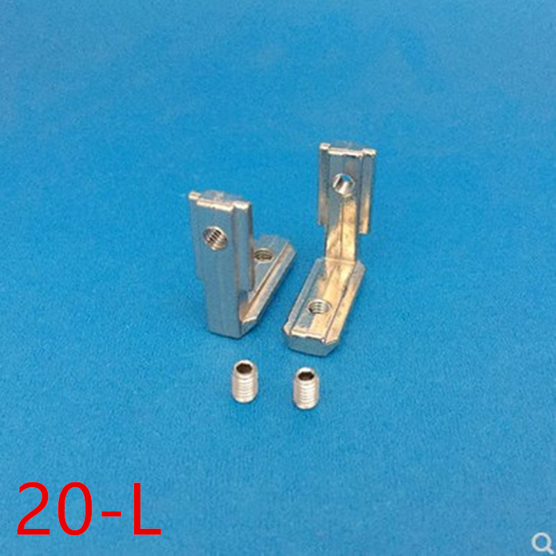 10pcs 20 Series L Shape Type Interior Inner Corner Connector Joint Bracket For 2020 Aluminum Profile With Slot 6mm With Screw