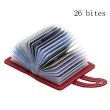 Card Holder Card Case 26 Bites PU Leather Fashion Credit Passport Holder Card Wallet bussiness Card