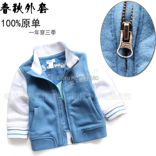 Envío gratis nuevo 2014 otoño primavera ropa de los muchachos ropa de abrigo chaqueta cardigan de manga larga prendas de vestir exteriores ocasional capa del bebé