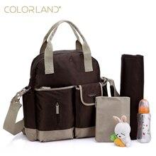 Color 11 farben babywindelbeutel-set multifunktionale rucksack mom baby-windel-taschen mit wickelauflage kinderwagen haken babypflege produkt