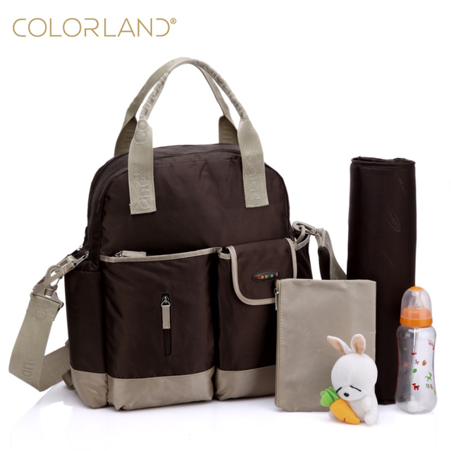 42ffbcd1cf New Nylon Diaper Bag Set Multifunctional Backpack Mom Nappy Bags With Changing  Mat Stroller Hook Bolso Maternidad Baby Care