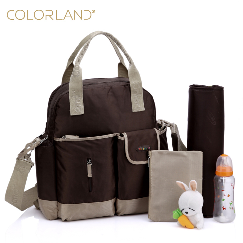 New Nylon Diaper Bag Set Multifunctional Backpack Mom Nappy Bags With Changing Mat Stroller Hook Bolso Maternidad Baby Care