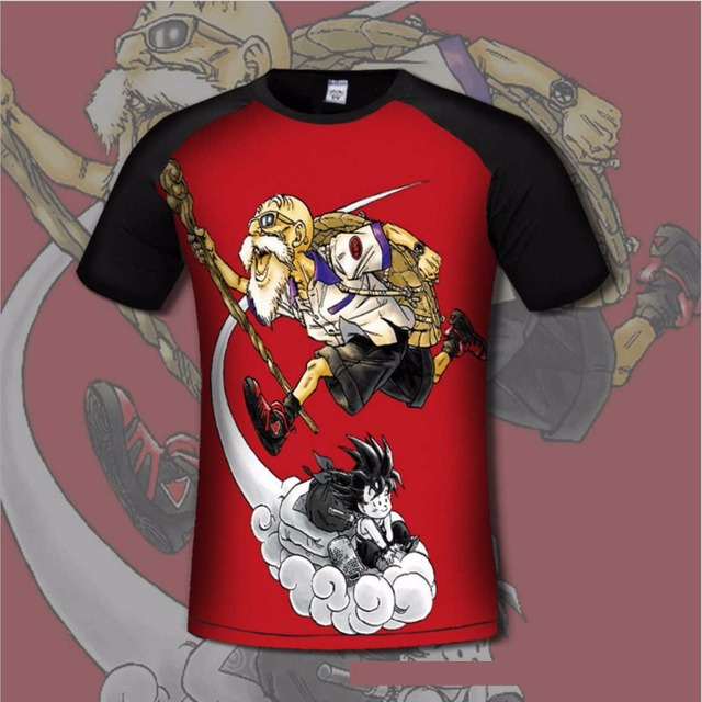 Dragon Ball Goku Men's  T shirt Comfortable Anime 3d Print Breathable tshirts Casual gamer Clothing flexible fashion shirt