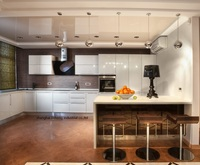 High gloss/lacca armadio da cucina mordern (LH-LA068)