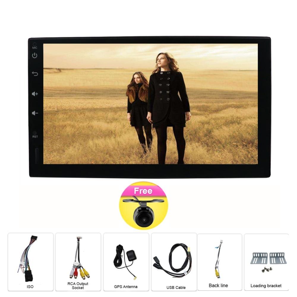 цена на 2 din android 7.1 radio bluetooth GPS Navigation wifi Stereo video 7 inch Universal in Car Multimedia Player GPS Stereo Audio