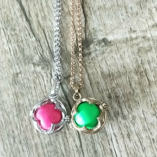 Women Lockets Pendant Necklace Pregnancy Balls With Mexico Balls inside put 16mm chime ball we can do dropshipping SYYF0109
