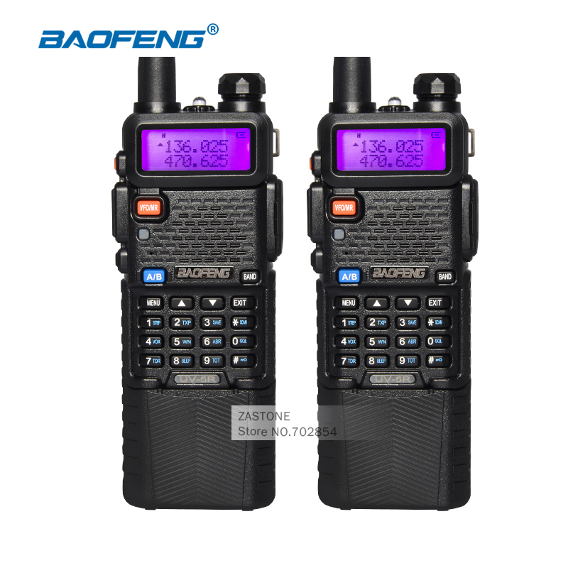 bilder für 2 stücke walkie talkie baofeng uv-5r cb ham radios 3800 batterie Dual Band UHF VHF Tragbaren Walkie Talkie Set Amateurfunk Station