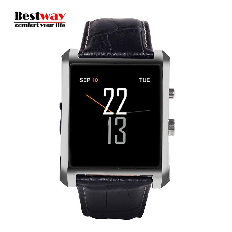 LF06 DM08 Bluetooth Smart Watch Men Leather Band IPS font b Smartwatch b font Waterfroof Wristwatch