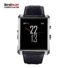 LF06 DM08 Bluetooth Smart Uhr Männer Leder Band IPS Smartwatch Waterfroof Armbanduhr für IOS Android Phone Mit 1.3MP Kamera