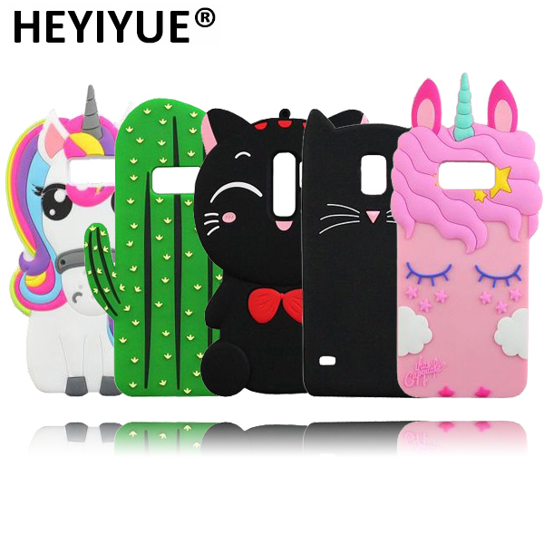 US $2 16 17% OFF|3D Unicorn Cases For Samsung S9 Plus Cartoon Cat Cactus  Minnie Mouse Pig Case Cover For Samsung Galaxy S8 S3 S4 S5 S6 S7 Edge-in