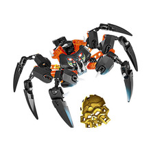 XSZ 708-4 bioniclemask light 70790 Lord of spider skull of children toys, building blocks compatible with Bionicle toys deblasio 70790