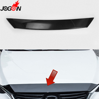 For Mazda 6 Mazda6 M6 Atenza 2017 Car Front Engine Hood Upper Grille Cover Sticker Trim ABS Carbon Fiber Look Car Styling