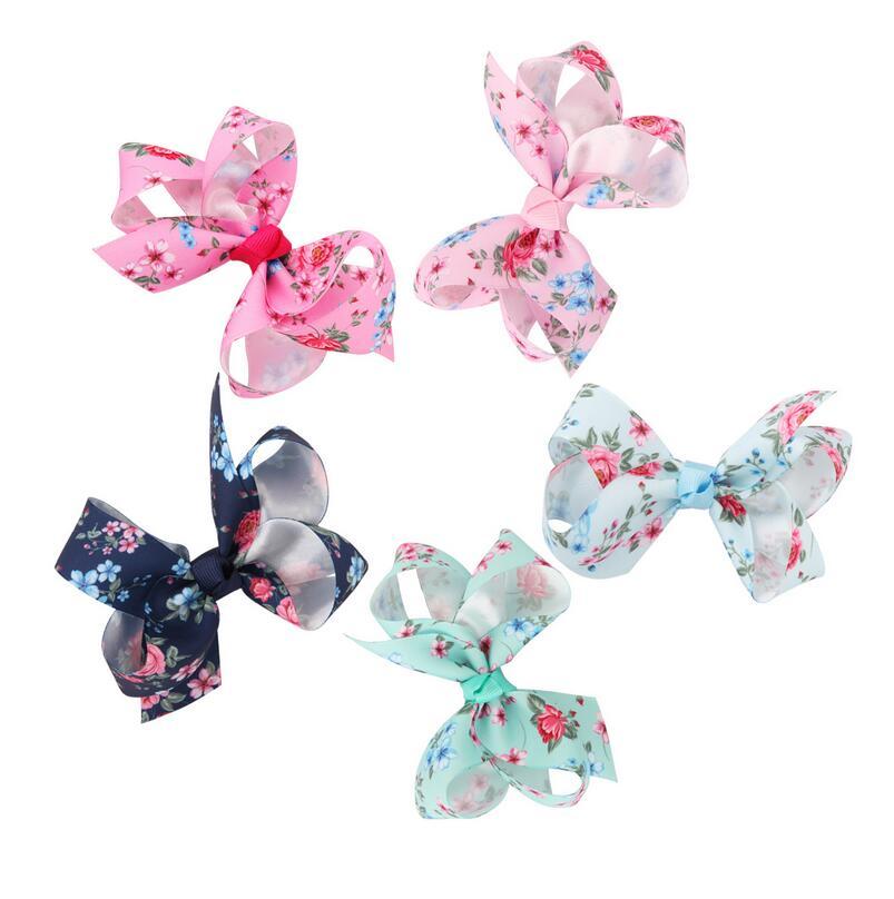 1 Pc Nette Bunte Gedruckt Sterne Frieden Blume Rosa Großen Bogen Knoten Haarspange Haarnadel Haar Clip Für Mädchen Boutique Headwear Prinzessin