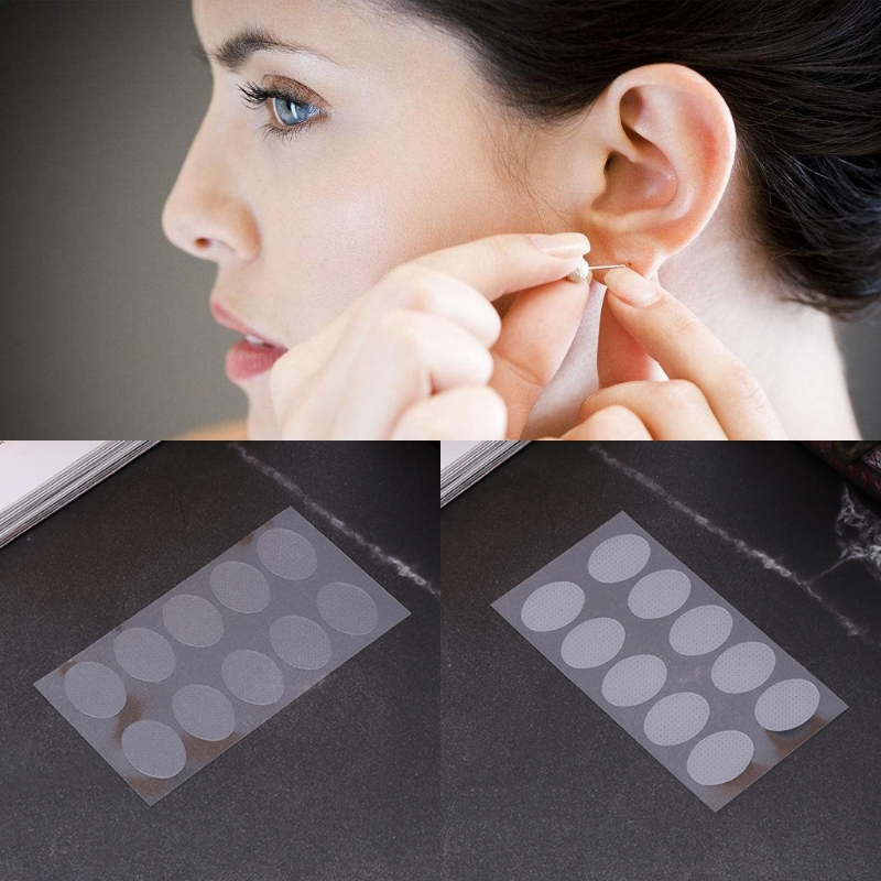 NEW 10 Pcs Ear Lobe Tape Invisible Lift Support Prevent Stretched or Torn Protective