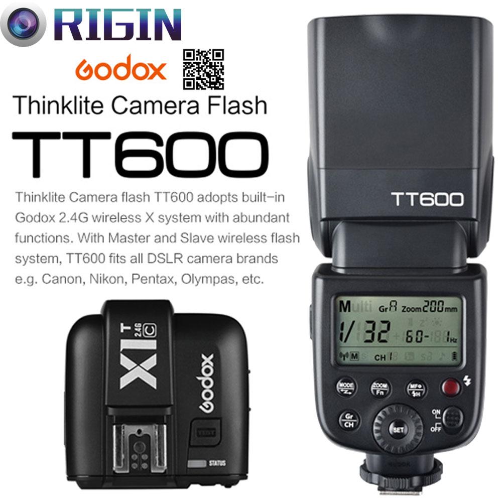 Godox TT600 / TT600S GN60 HSS 1 / 8000s Speedlite 2.4G Simsiz X - Kamera və foto - Fotoqrafiya 1