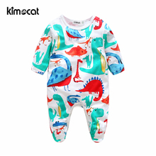 Kimocat Baby Long Sleeve Baby Clothing Boys Romper Jumpsuit Clothes Cotton Cartoon Dinosaur Animal Jumpsuits Infant Girl Rompers baby romper infant toddler boys gentlemen clothes bowknot long sleeve cotton rompers body clothing jumpsuit